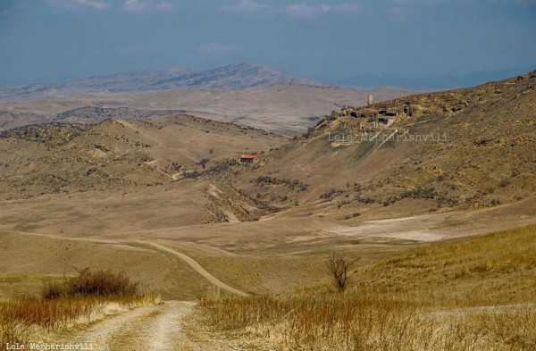 Steppenlandschaft in Georgien, Foto Lela Meparishvili