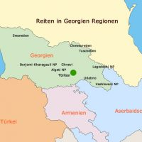 Reiten in Georgien Regionen Map