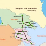 Georgien Armenien map