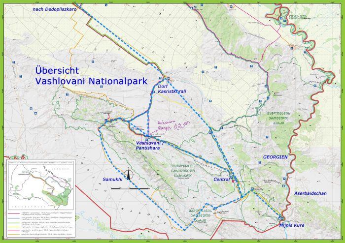 National Park Vashlovani Map